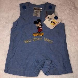 Vintage Walt Disney World Embroidered Romper 6m